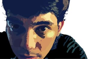 Illustrator Self Portrait by NapiCAN