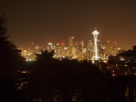 A Seattle Night by EdenUnderFallout