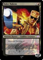 Duke Nukem Magic card by BuzzTheWolf