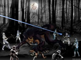 WEREWOLF vs CLONETROOPERS by johnnyBgood007