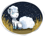 present: alolan vulpix by cotton-bird