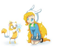Fionna and cake by pichuspokeball