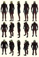Mass Effect 2, Thane - Model Reference. by Troodon80
