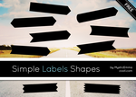 Simple Labels Shapes by MysticEmma