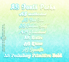 AS Font Pack! by MeiliChan15