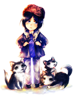 huskies by Endiria