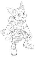 ratchet and clank doodle by Luphin