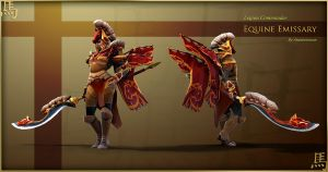 Legion Commander Equine Emissary set by Anuxinamoon
