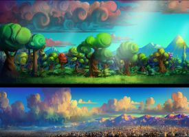 Backgrounds by lordeeas