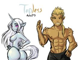 Topless Adopts 4 -CLOSED- by Ask-Evin