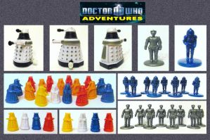 Doctor Who - Mini Figures by mikedaws