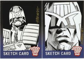 2000AD SketchCards by ryanorosco