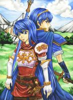 Marth and Caeda by Jenninaitsu