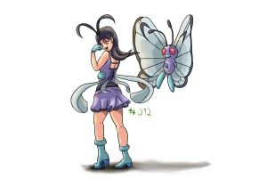 #012 Butterfree by julXart