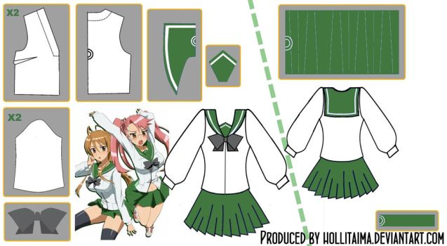 HSOTD Uniform Cosplay Pattern Draft by Hollitaima
