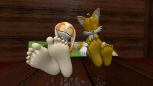 Cream and Tails relaxing 3 (request) by hectorlongshot