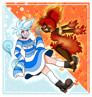 Jacky Frost VS Ms. Summer by BrownieTheif