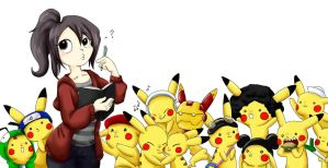 Pikachus everywhere! by WafflezNFries