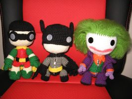 batman, robin and joker by anjelicimp
