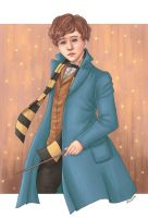 Newt Scamander by blingyeol