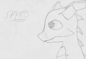 Spyro Sketch by Shadowpredator100