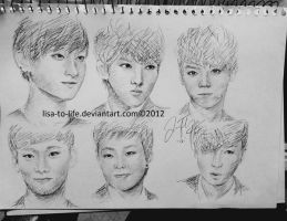 Exo-M sketch by Lisa-to-Life