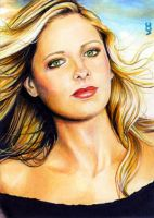 Buffy Sketch Card by veripwolf