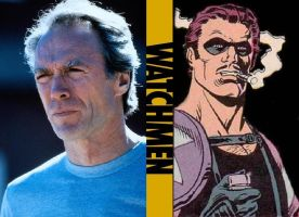 My 80's Watchmen Film Cast - Comedian by RobertTheComicWriter