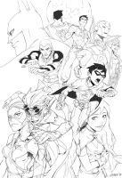 Young Justice lineart by lychi