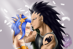 Gajeel and Levy by Neyla-The-Lioness