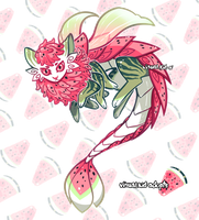 [CLOSED] Watermelon Catshrimp Adopt by visualkid-adopts