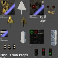Misc. Train Props by samdrewpictures