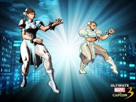 Chun Li White MVC3UltimateA by ChrisNext