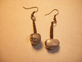 Mjolnir earrings by QueenAliceOfAwesome