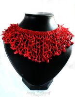 Necklace: Coral Cascade by annafjellborg