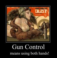 GunControl Motivational Poster by Kesdiodrick