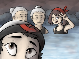 Hot Spring Selfie by AceWu