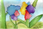 watercolors: Flowers by Aiko-Hirocho