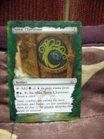 Altered Magic card: The Gathering Simic Cluestone by idielastyr