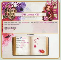 Briar Beauty Journal CSS by A-queenoffairys