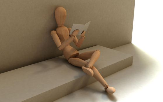 3d mannequin, reading by thimic