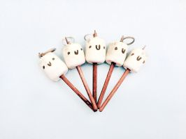 Roasted Marshmallow Clay Charms by janelleLOVESudon