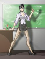 Miss Violet address's her class (Art Trade) by Yasha-K