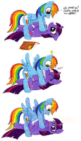Twilight Sparkle's Trick on Rainbow Dash by BJLouisiana2014