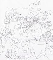 North and South_pencil by Jen7waters