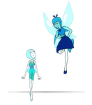 Homeworld Aquamarine with her Pearl by Nosferatu015