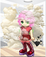 Amy Rose gassing it up gaia online style. by soniclover562