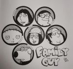Family Guy - Inktober! by MoonMistFalls