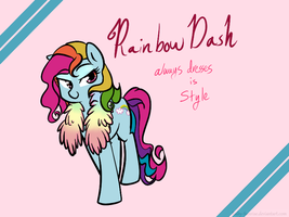 Rainbow Dash always dresses in STYLE by Ruby-Sunrise
