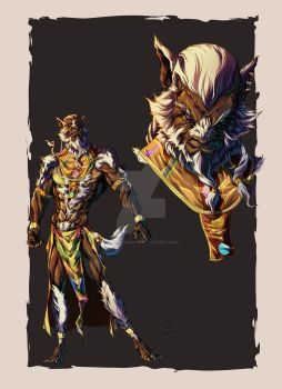 Darius - Wolf King character design by marvelmania